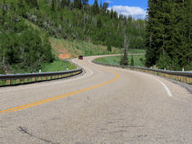Utah: Mountain Road w/ Car Royalty Free Stock Photo