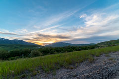 Utah Mountain Sunset. Sunset over the Mountains in Northern Utah Royalty Free Stock Images