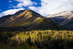 Utah Mountains in the Fall Royalty Free Stock Image