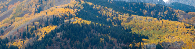 Utah mountains at fall. Panorama royalty free stock photos