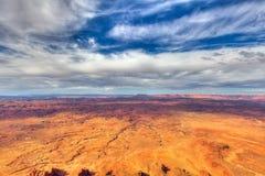 Utah-naalden over*zien-Mening van het Nationale Park van Canyonlands royalty-vrije stock foto's