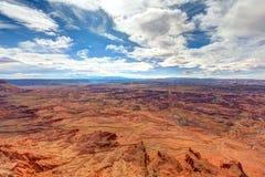 Utah-naalden over*zien-Mening van het Nationale Park van Canyonlands stock foto