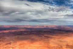 Utah-naalden over*zien-Mening van het Nationale Park van Canyonlands stock afbeelding
