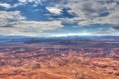 Utah-naalden over*zien-Mening van het Nationale Park van Canyonlands stock afbeeldingen