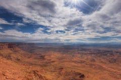 Utah-naalden over*zien-Mening van het Nationale Park van Canyonlands royalty-vrije stock fotografie
