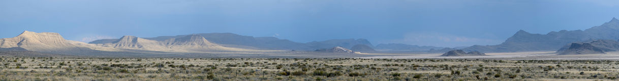 Utah/Nevada landscape panorama. Utah/Nevada desert landscape panorama royalty free stock photo