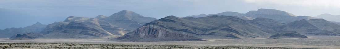 Utah/Nevada landscape panorama Royalty Free Stock Image