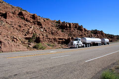 Utah: Oil Tanker Semi Stock Photo