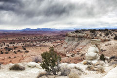 Utah Overlook. A stop just of the highway in eastern Utah Stock Photos