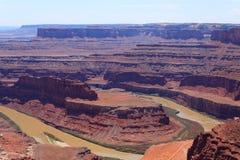 Utah panorama. Colorado river canyon. Stock Images