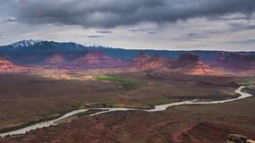 Utah Professor Valley Time-lapse aerial view Royalty Free Stock Images