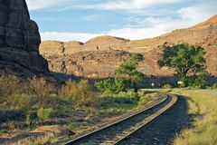Utah Railroad and Road Stock Images
