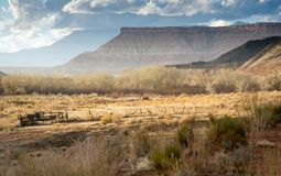 Utah Range Land. This is an evening view of some range land in southern Utah Stock Images