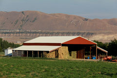 Utah Red Pole Barn Stock Images
