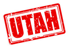 Utah red stamp text Royalty Free Stock Photo