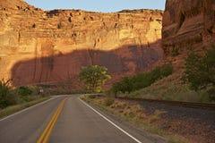Utah Road Adventure. Scenic Utah Road near Moab, Utah, USA. Travel and Adventure Photo Collection Royalty Free Stock Images