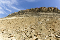Utah rock formations. Slopes of rock from tall rock formations in Utah royalty free stock photos