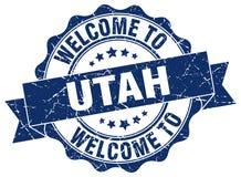 Utah round ribbon seal Stock Photos