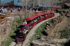 Utah's Hoogle Zoo Train Stock Photo