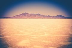 Utah Salt Flats Landscape Royalty Free Stock Image