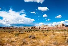 Utah sandstone cliff panorama Royalty Free Stock Photography