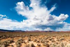 Utah sandstone cliff panorama Stock Photography