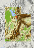 Utah, shaded relief map Royalty Free Stock Photo