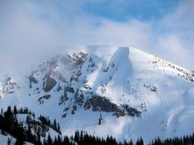 Utah snowy mountain Royalty Free Stock Image