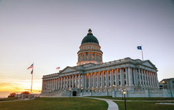 Utah stanu capitol budynek w Salt Lake City Zdjęcia Royalty Free