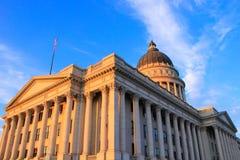 Utah stanu Capitol z ciepłym wieczór światłem, Salt Lake City Fotografia Royalty Free