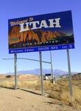 Utah stanu drogowy znak na międzystanowym obrazy stock