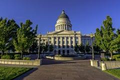 Utah state capital courtyard morning Royalty Free Stock Photography