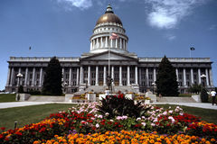 Utah State Capitol Building. In downtown area of Salt Lake City Stock Photo