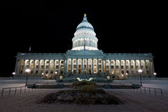 Utah State Capitol building at night Royalty Free Stock Images