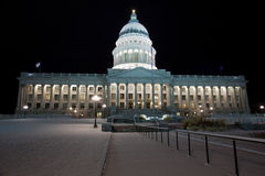 Utah State Capitol building at night Stock Photos