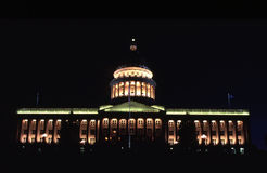 Utah State Capitol Building at night. Utah State Capitol Building in downtown area of Salt Lake City Royalty Free Stock Photo