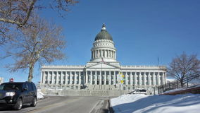 Utah State Capitol Building. A Time Lapse of Utah State Capitol Building in Salt Lake City, Utah stock footage