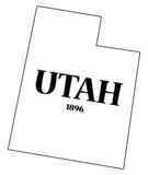 Utah State and Date Royalty Free Stock Photo
