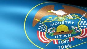 Utah State Flag Waving. Video footage stock video