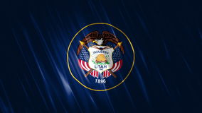 Utah State Loopable Flag. Ultra HD, 3840x2160 Pixels, Realistic Flag Loopable Flag Animation stock footage