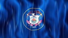 Utah State Loopable Flag stock video