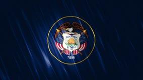 Utah State Loopable Flag stock footage