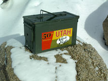 Utah State Park Geocache Stock Photos