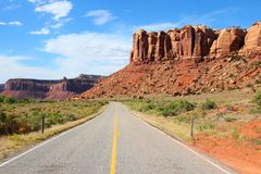 Utah state road Royalty Free Stock Photo