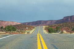 Utah State Route 128,to Moab. Royalty Free Stock Photos