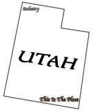 Utah State Slogan and Motto Stock Photo