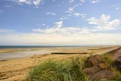 Utah strand - Normandie, Frankrike Arkivfoton