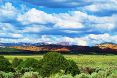 Utah. Stunning landscape of prairie fields and mountains Stock Image