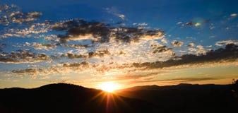 Utah Sunrise. Colorful panoramic sunrise in Park City, Utah Stock Images