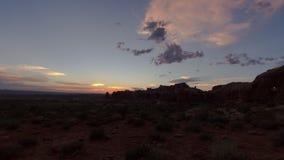 Utah sunset timelapse stock video
